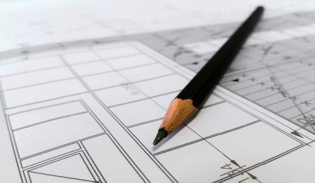 lapiz y plano de arquitecto